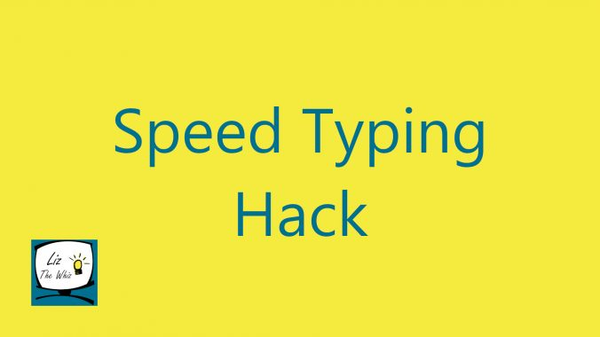 Easy Speed Typing Hack